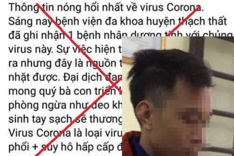 Hà Nội xử phạt đối tượng tung tin sai sự thật về dịch do virus Corona