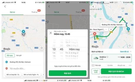 """Grab thử nghiệm """"Chuyến xe hẹn giờ"""" cho dịch vụ GrabCar tại Hà Nội"""