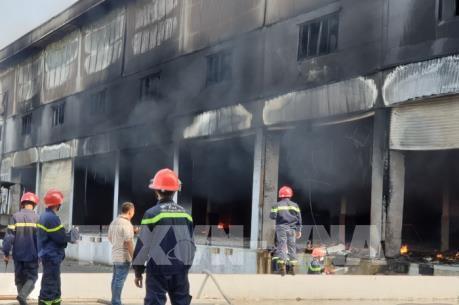 Bình Dương: Cháy lớn trong khu công nghiệp Mỹ Phước 3