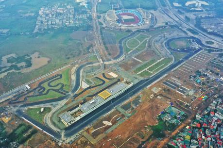 Hà Nội phân luồng giao thông bảo vệ mặt đường đua F1