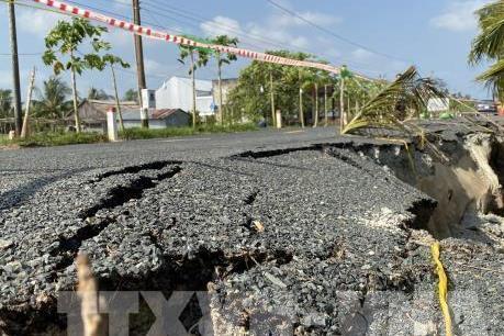 Cà Mau thành lập tổ giám định nguyên nhân gây sụt lún tuyến đường hơn 700 tỷ đồng