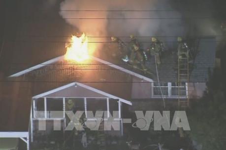 Cháy khách sạn tại thành phố Los Angels của Mỹ