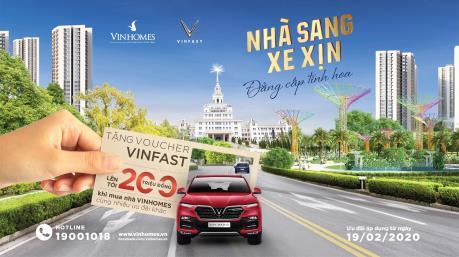Mua nhà Vinhomes tặng Voucher xe VinFast tới 200 triệu