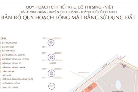 Tp. Hồ Chí Minh làm rõ trách nhiệm chậm trễ triển khai dự án Khu đô thị Sing Việt