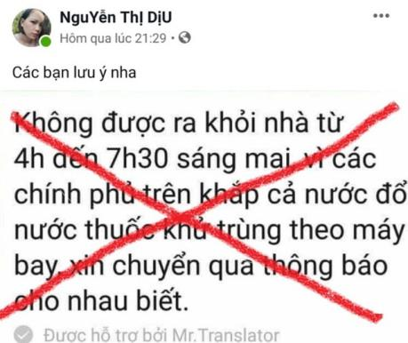 Hưng Yên: Xử phạt người đưa tin sai về dịch bệnh lên mạng xã hội