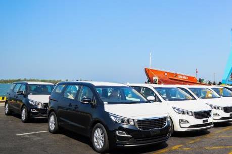 Thaco xuất khẩu lô xe du lịch Kia đầu tiên sang Thái Lan