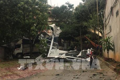 Yên Bái: Lốc xoáy kèm mưa đá gây thiệt hại 18 tỉ đồng