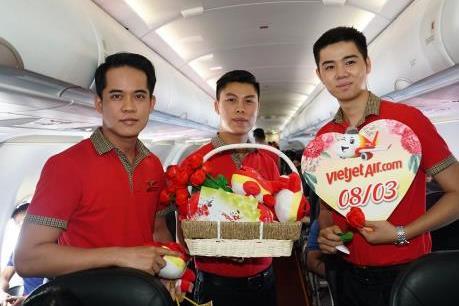 Chào mừng ngày  8/3, Vietjet giảm 83% giá vé cho tất cả đường bay