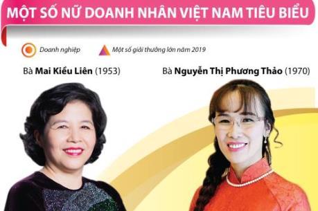 Một số nữ doanh nhân Việt Nam tiêu biểu