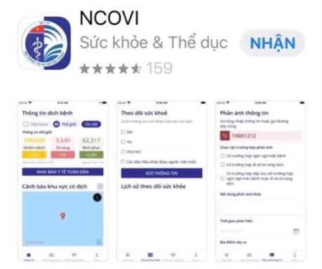 Chính thức ra mắt app COVID-19 thông tin về dịch bệnh
