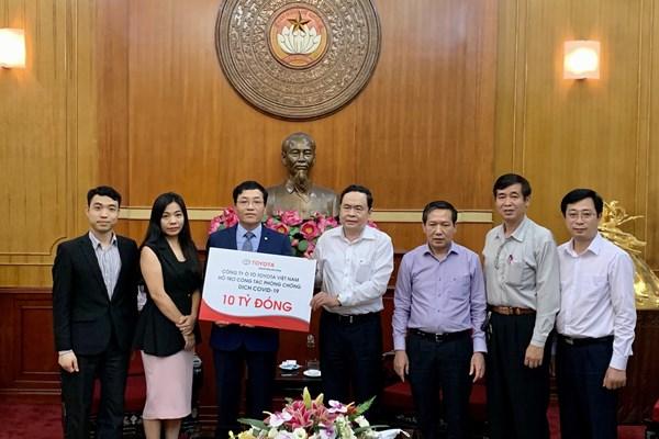Dịch COVID-19: Công ty Toyota Việt Nam ủng hộ 10 tỷ đồng