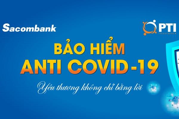 Sacombank triển khai bảo hiểm Anti COVID-19 chi phí từ 30.000 đồng