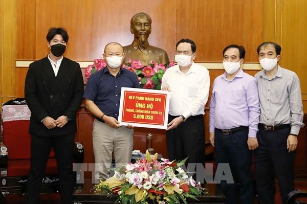 Huấn luyện viên Park Hang Seo ủng hộ phòng, chống dịch COVID-19