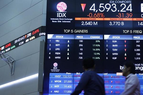 Indonesia rút thời gian giao dịch chứng khoán còn 4 giờ/ngày