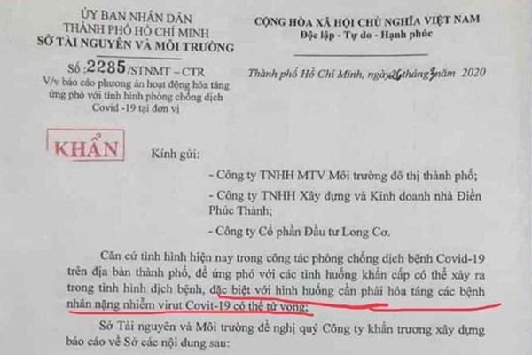 Tp. Hồ Chí Minh thu hồi văn bản gây hoang mang dư luận