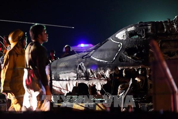 Nổ máy bay tại Phippines, không còn ai sống sót
