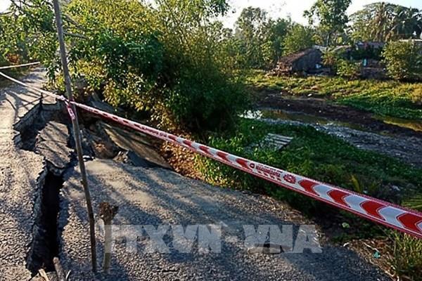 Tuyến giao thông từ Co Xáng đi Đá Bạc tiếp tục sụt lún nghiêm trọng 