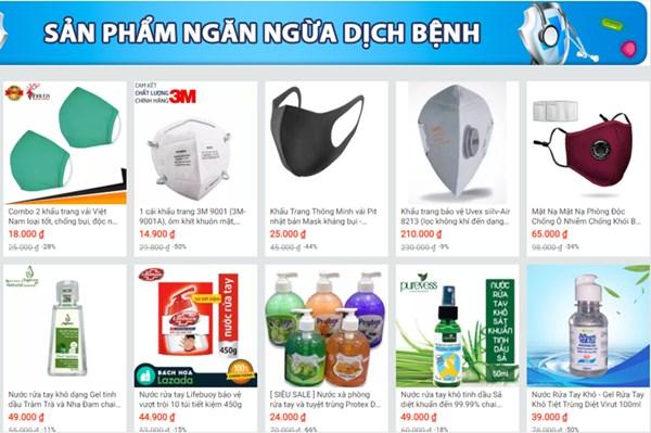Sàn thương mại điện tử ưu tiên hiển thị sản phẩm phòng, chống dịch COVID-19