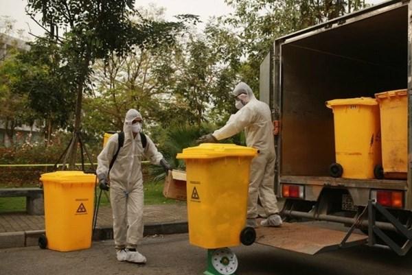 Đảm bảo phân loại, xử lý chất thải hàng ngày để phòng dịch COVID-19