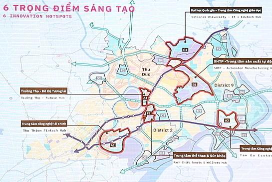 Tp. Hồ Chí Minh xin ý kiến về quy hoạch khu đô thị sáng tạo phía Đông