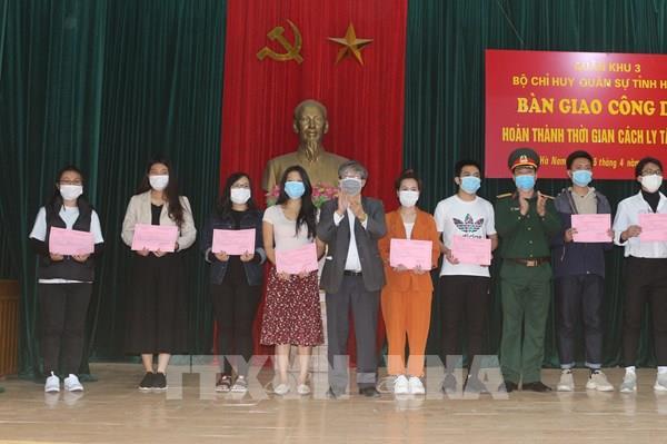 Dịch COVID-19: 85 công dân hoàn thành thời gian cách ly y tế tại Hà Nam