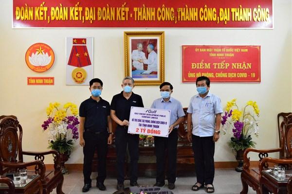 Tập Đoàn GULF ủng hộ 2 tỷ đồng hỗ trợ Ninh Thuận phòng chống COVID-19