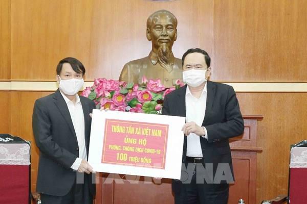 Thông tấn xã Việt Nam ủng hộ phòng, chống dịch COVID-19