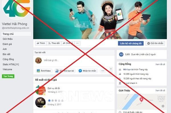 Viettel gỡ bỏ 186 trang fanpage mạo danh thương hiệu Viettel trên Facebook