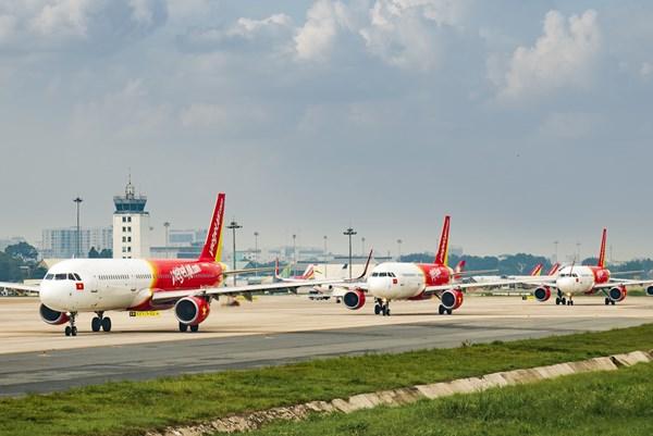 Dịch COVID-19: Vietjet Air thêm 3 chuyến bay phục vụ hành khách hết thời hạn cách ly