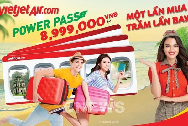 """Vietjet Air tung thẻ """"Power Pass"""" với nhiều ưu đãi bất ngờ"""