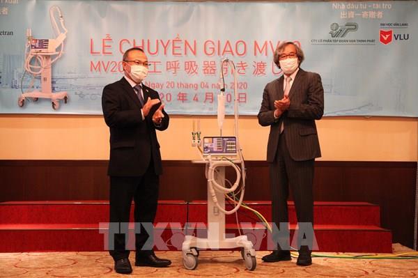 METRAN bàn giao hai máy thở đầu tiên cho Việt Nam