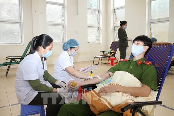 Công an tỉnh Yên Bái tham gia hiến máu tình nguyện