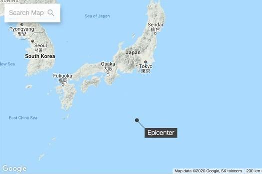 Động đất mạnh 6,4 ngoài khơi Nhật Bản