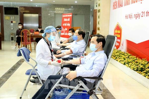"""Ban Nội chính Trung ương hưởng ứng Ngày """"Toàn dân hiến máu tình nguyện"""""""