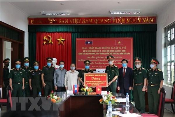 Bộ Quốc phòng Việt Nam hỗ trợ quân đội một số nước trang thiết bị, vật tư y tế