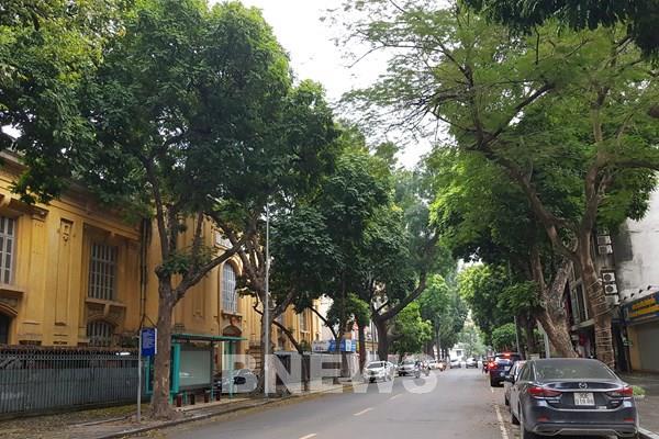 Sáng nay, đường phố Hà Nội vắng người qua lại
