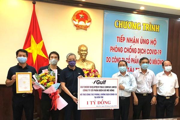 Tập đoàn GULF ủng hộ 1 tỷ VND hỗ trợ Bến Tre phòng chống dịch COVID-19