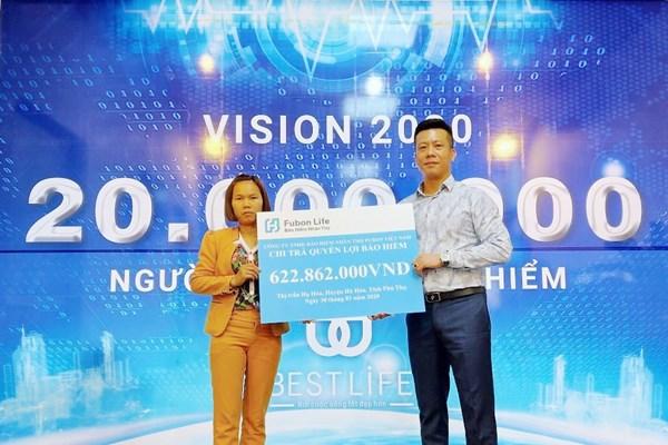 Fubon chi trả bảo hiểm hơn 620 triệu đồng cho khách hàng