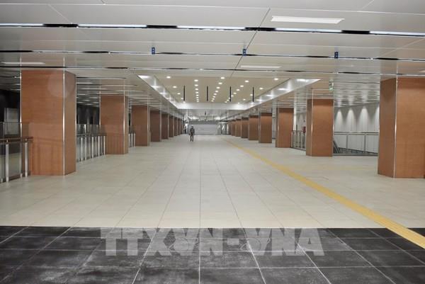 Cơ bản hoàn thiện tầng B1 ga Nhà hát Tp. HCM thuộc dự án metro số 1