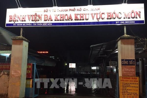 Mưa gây ngập Bệnh viện Đa khoa Khu vực huyện Hóc Môn, TP. Hồ Chí Minh