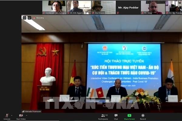Việt Nam và Ấn Độ đẩy mạnh xúc tiến đầu tư, kinh doanh thời hậu COVID-19
