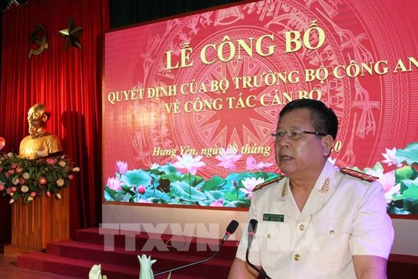 Bổ nhiệm Giám đốc Công an tỉnh Hưng Yên