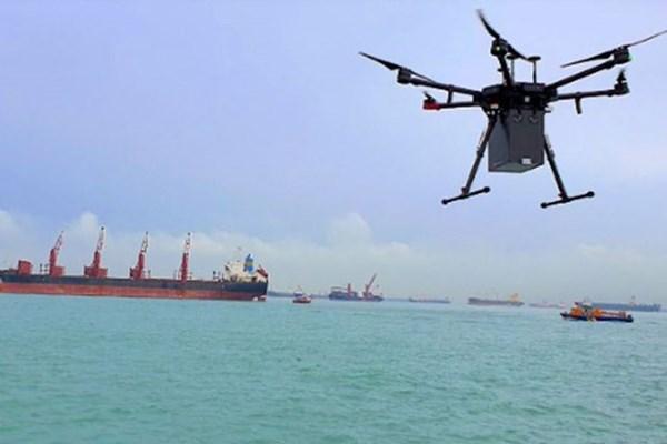 Singapore khai thác dịch vụ chuyển hàng bằng máy bay không người lái