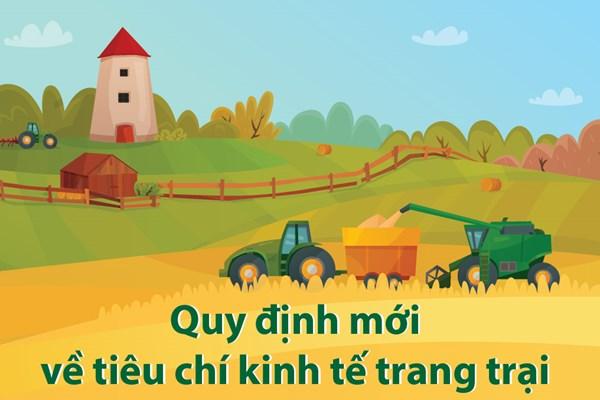Tiêu chí kinh tế trang trại có gì mới?