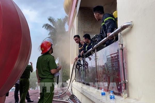 Cháy quán karaoke tại thành phố Hải Dương