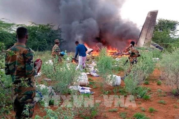 Rơi máy bay tại Somalia, 6 người thiệt mạng
