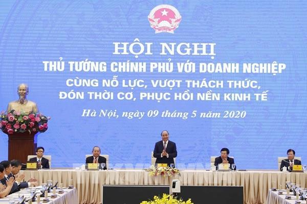 Chính thức diễn ra Hội nghị trực tuyến Thủ tướng Chính phủ với doanh nghiệp