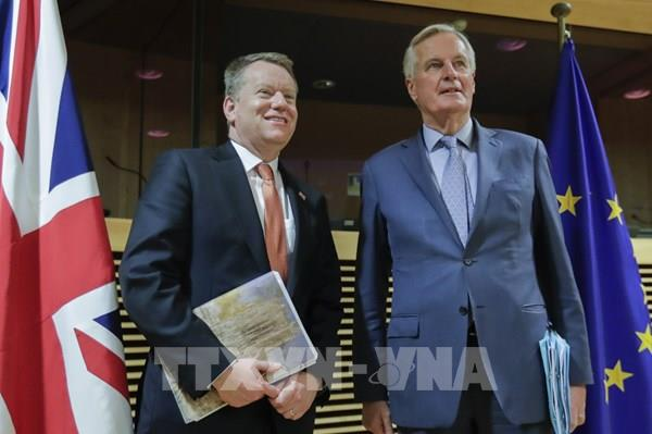 Đàm phán thương mại trực tuyến giữa Anh và EU 