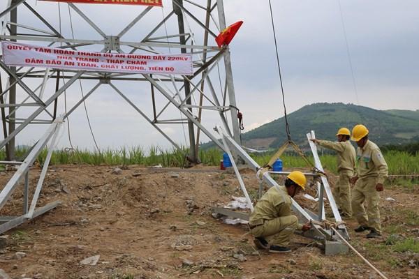 Đường dây 220kV Nha Trang - Tháp Chàm vướng các thủ tục liên quan đến chuyển đổi đất rừng