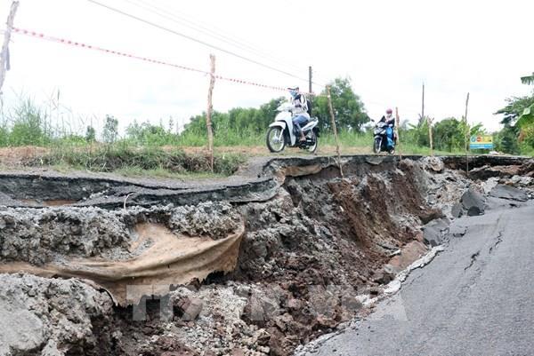 Sụt lún, sạt lở nghiêm trọng tỉnh lộ 965 Kiên Giang